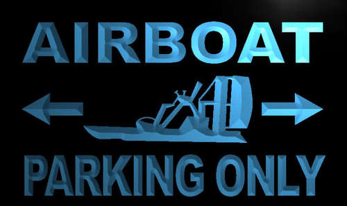 Airboat Parking Only Neon Light Sign