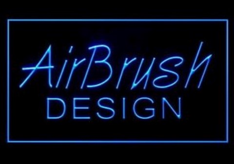 Airbrush Design LED Neon Sign