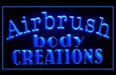 Airbrush Tattoos Body Creations LED Neon Sign