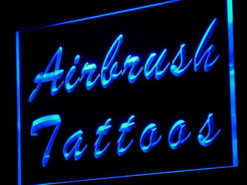 Airbrush Tattoos Shop Display Neon Light Sign