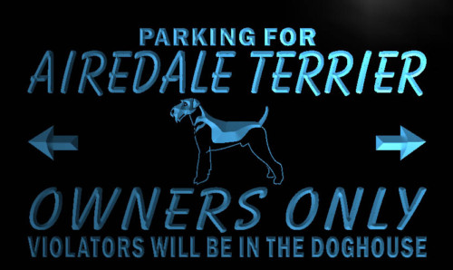 Airedale Terrier Owners Only Neon Light Sign