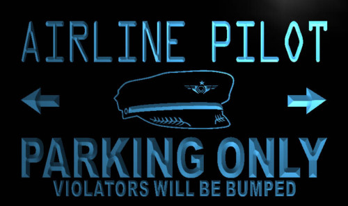 Airline Pilot Parking Only Neon Light Sign