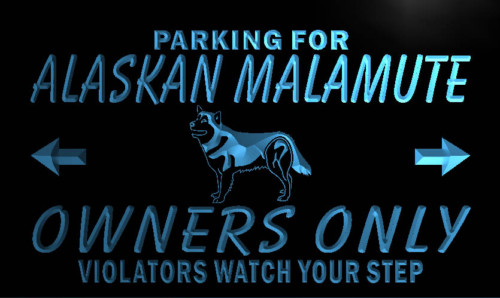 Alaskan Malamute Owners Only Neon Light Sign