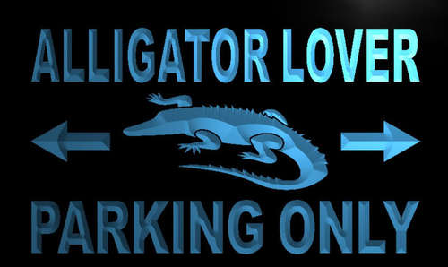 Alligator Lover Parking Only Neon Light Sign