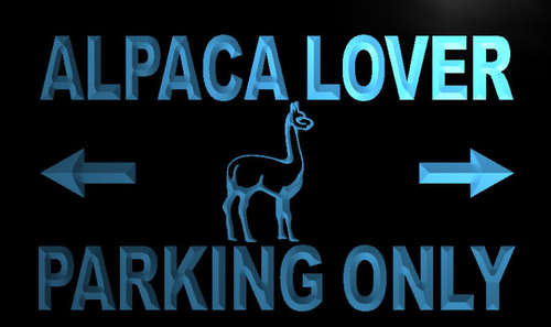 Alpaca Lover Parking Only Neon Light Sign