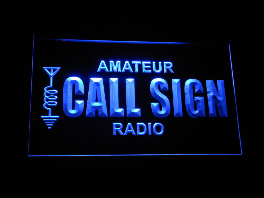 Amateur Call Sign LED Light Sign