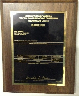 Ham Amateur Radio License Plaque