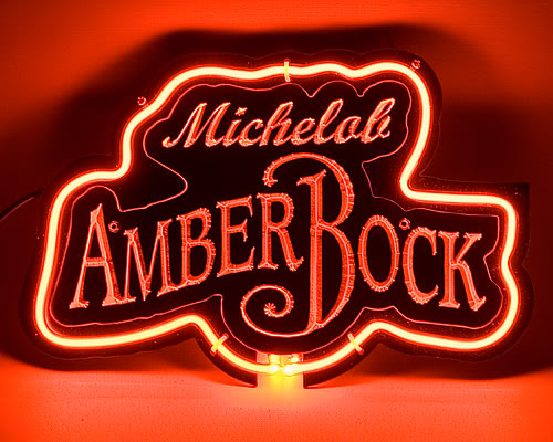 Amber Bock Logo Red Neon Sign