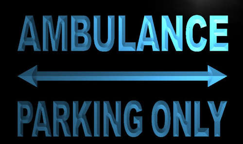 Ambulance Parking Only Neon Light Sign