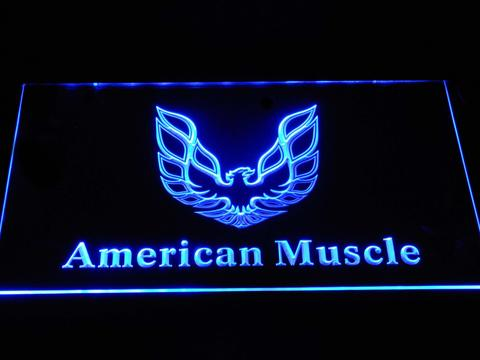 American Muscle Eagle Logo LED Neon Sign