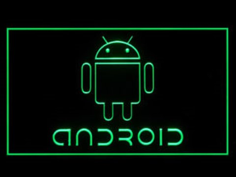Android Phone Service LED Neon Sign