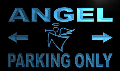 Angel Parking Only Neon Light Sign