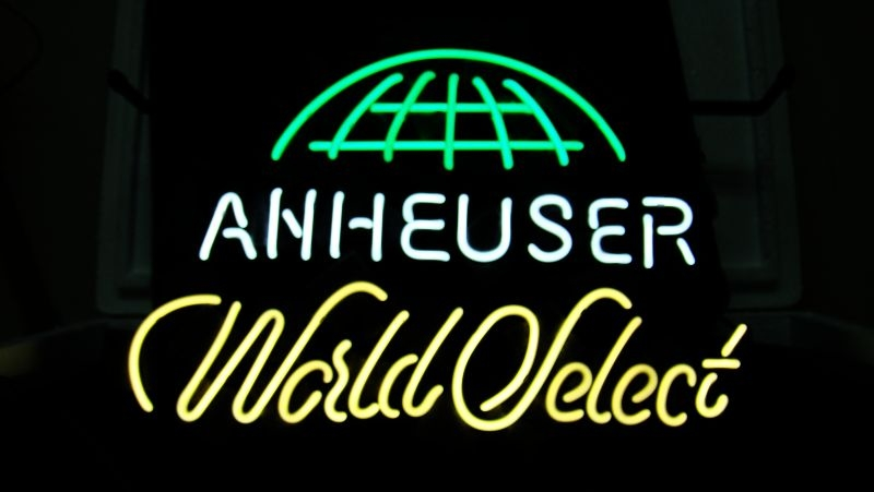 Anheuser World Select Bar Neon Light Sign 18 x 14