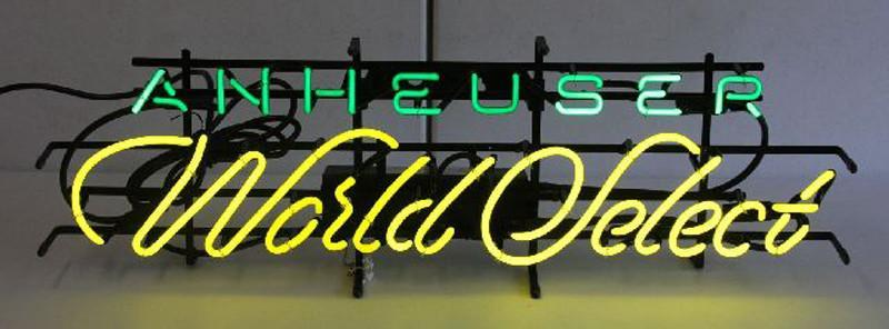Anheuser World Select Script Neon Sign