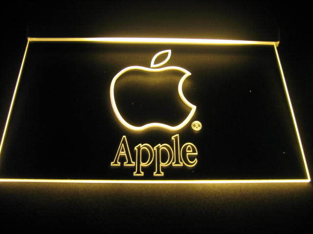 Apple Logo Beer Bar Pub Store Light Sign