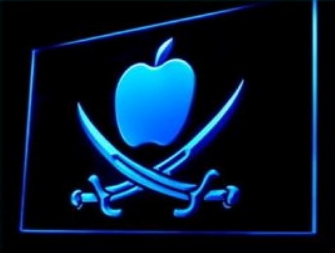 Apple Pirate LED Neon Sign