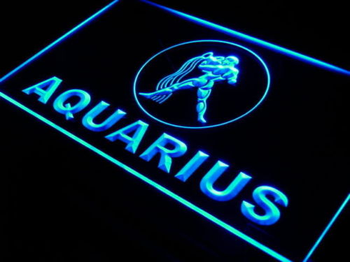 Aquarius Zodiac LED Light Sign