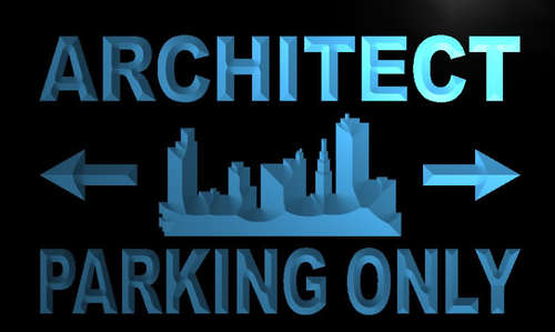 Architect Parking Only Neon Light Sign
