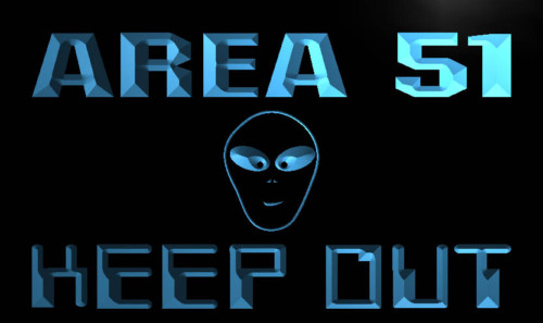 Area 51 Keep Out Neon Light Sign