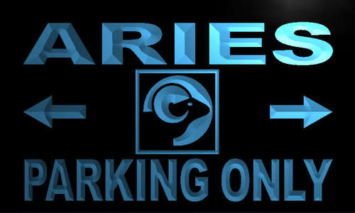Aries Parking Only Neon Light Sign