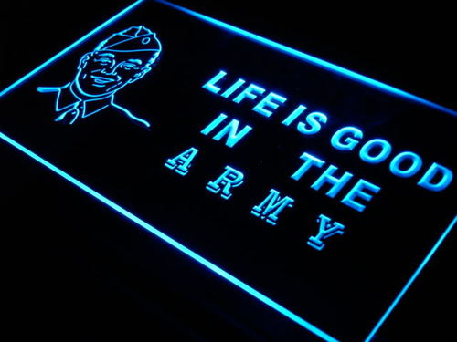 Army Life is Good Bar Beer US Neon Light Sign