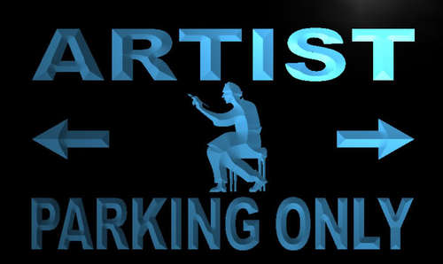 Artist Parking Only Neon Light Sign