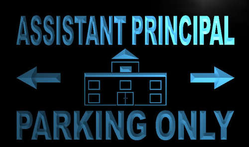 Assistant Principal Parking Only Neon Light Sign