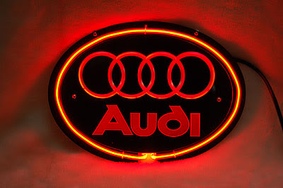 Audi Rings Logo Red Neon Sign