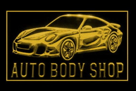 Auto Body Shop LED Neon Sign