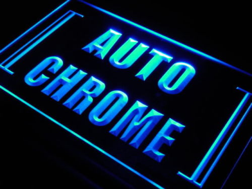 Auto Chrome LED Light Sign