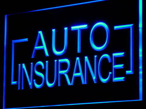Auto Insurance LED Light Sign