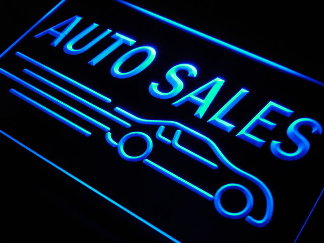 Auto Sales LED Light Sign