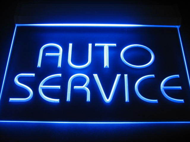 Auto Service LED Light Sign