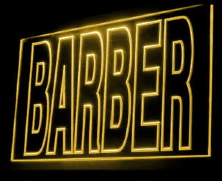 BARBER Haircut Salon Hair Design LED Neon Sign