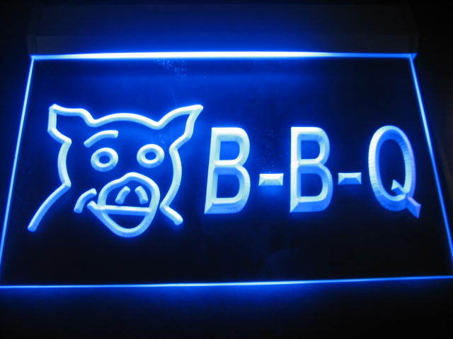 BBQ Pig LED Light Sign
