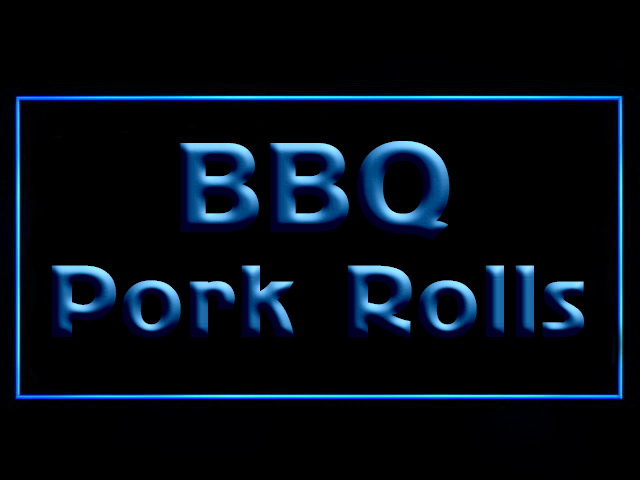 BBQ Pork Rolls LED Neon Sign