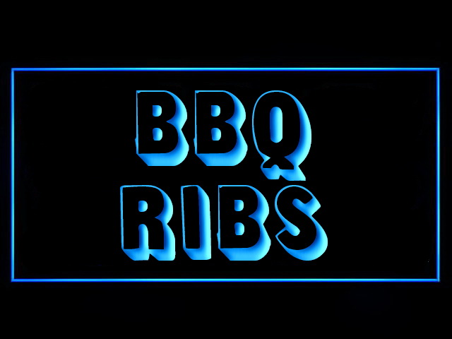 BBQ Ribs LED Neon Sign