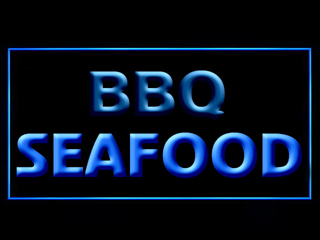 BBQ Seafood LED Neon Sign