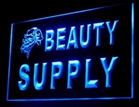 BEAUTY SUPPLY Cosmetics LED Neon Sign