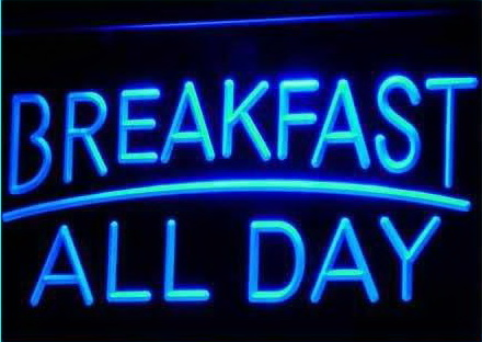 BREAKFAST ALL DAY OPEN Cafe Bar Neon Light Sign
