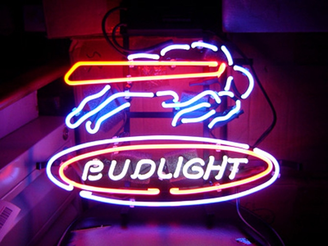 "BUD LIGHT NFL BUFFALO BILL BEER NEON LIGHT SIGN 16""x15"""
