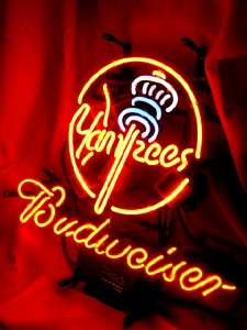 "BUDWEISER MLB NEW YORK NY YANKEES BEER NEON LIGHT SIGN 16"" X 15"""