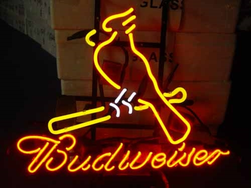 "BUDWEISER MLB ST LOUIS CARDINALS BEER NEON LIGHT SIGN 16"" X 15"""