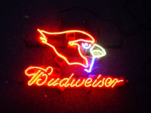 "BUDWEISER NFL ARIZONA CARDINALS BEER NEON LIGHT SIGN 16"" X 15"""
