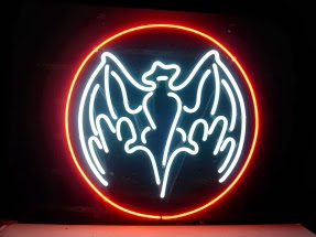 Bacardi Bat Bar Logo Classic Neon Light Sign 18 x 14