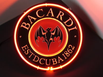 Bacardi Rum 1862 Round Red Logo Neon Sign