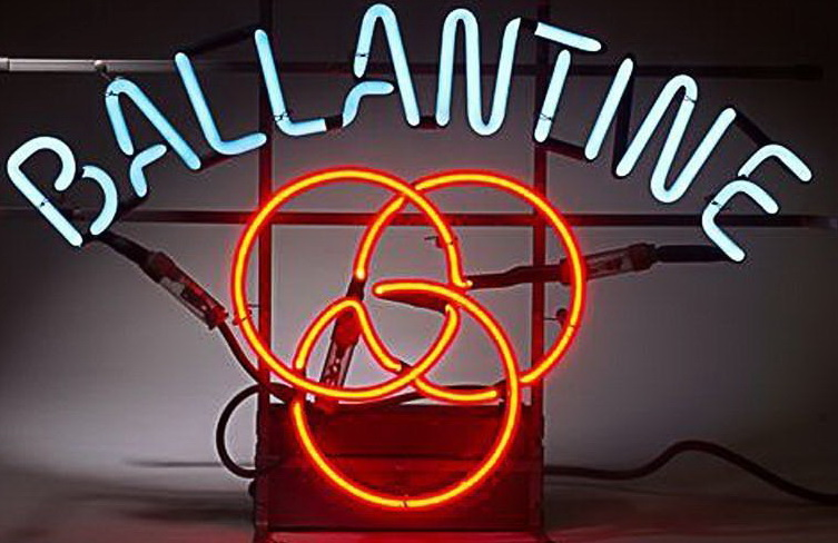 Ballantine Beer Logo Red Neon Sign