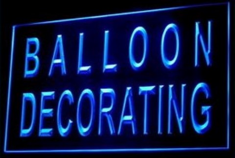 Balloon Party Hall Decoration LED Neon Sign