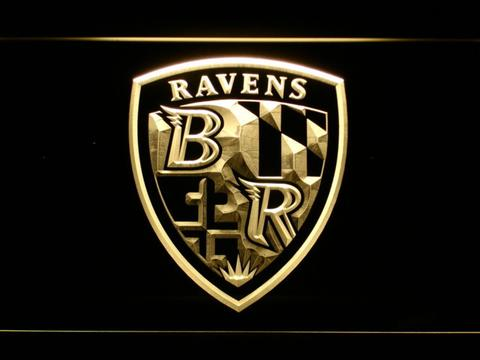 Baltimore Ravens Shield Logo LED Neon Sign