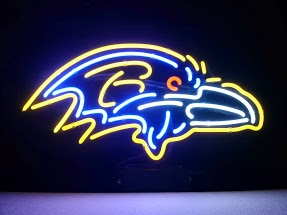 Baltimore Ravens Classic Neon Light Sign 18 x 14